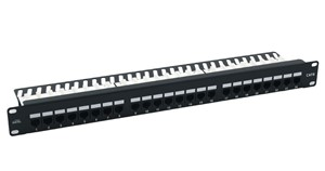 Picture of CAT 6 Unshielded Patch Panel 24-Port (Loaded)
